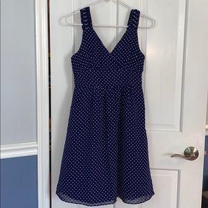2 gap blue polka dot dress
